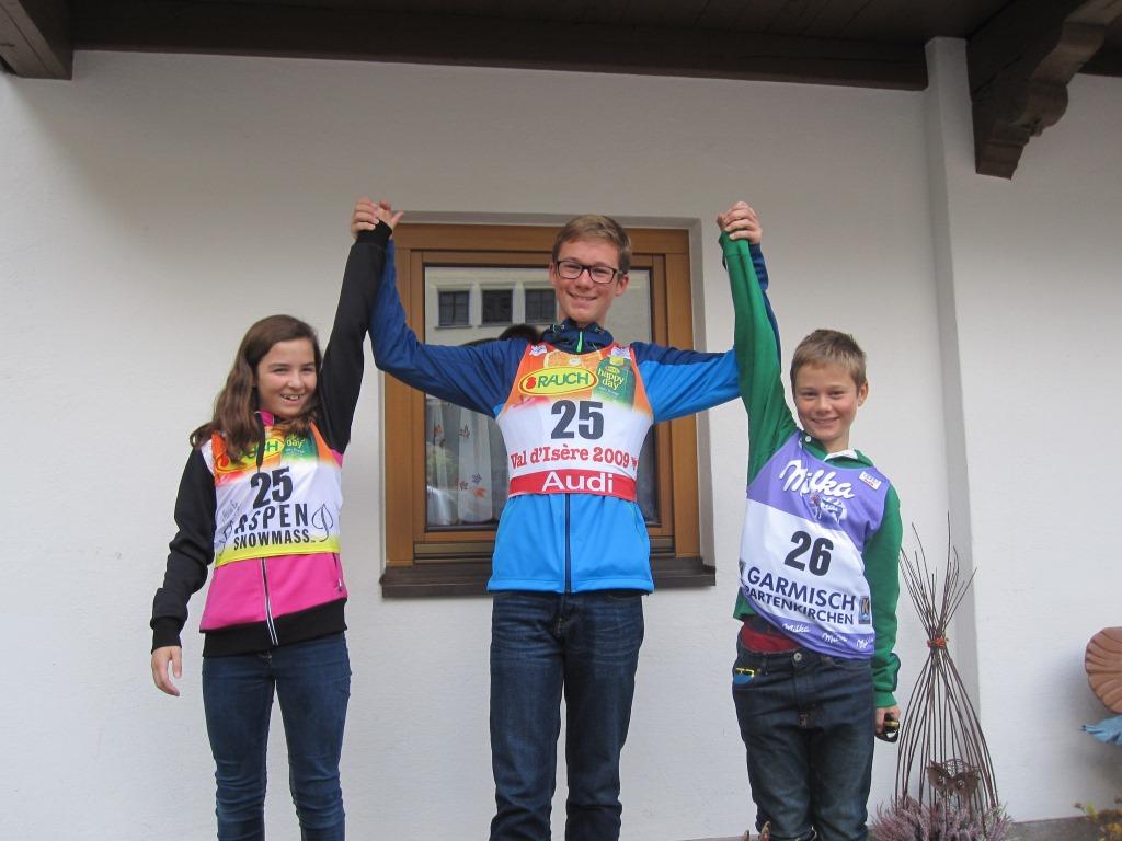 Die Gewinner erhielten originale Startnummern von Marina Nigg